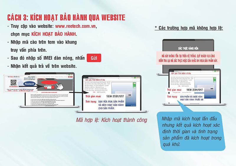 hướng dẫn kích hoạt bảo hành qua website