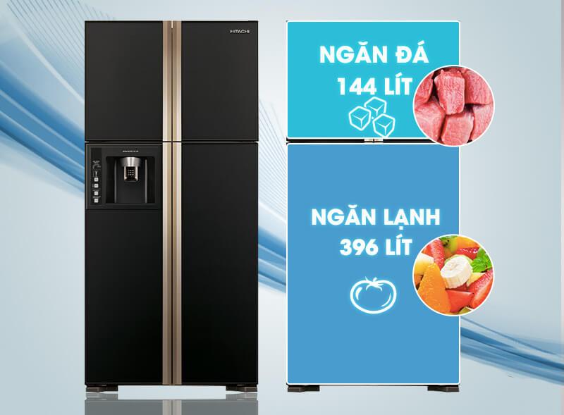 Tủ lạnh Hitachi Inverter 540 lít R-W660FPGV3X