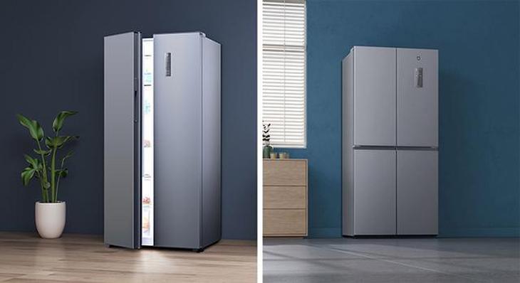2 mẫu tủ lạnh side by side với dung tích là 483 lít và 486 lít