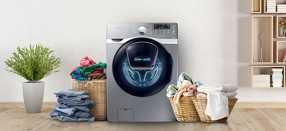 Máy giặt Samsung có thiết kế hiện đại, sang trọng