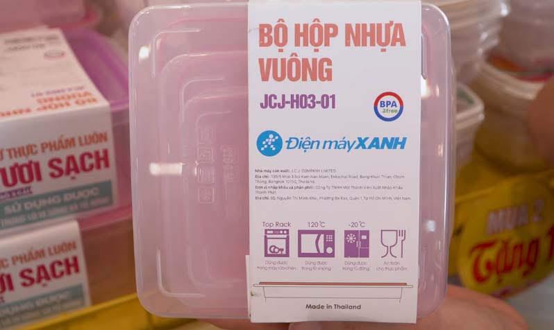 hộp nhựa dùng trong lò vi sóng